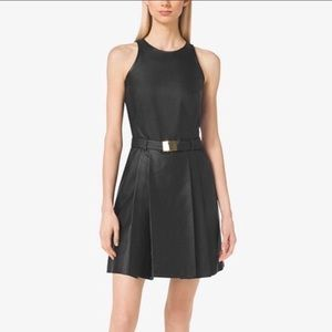 BNWT Michael Kors Black Leather Dress size 6